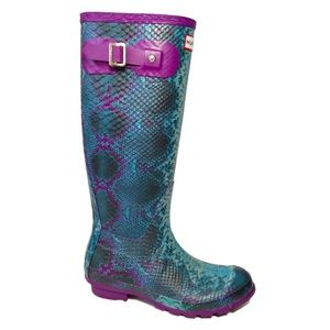 Hunter Tall Carnaby Welly Snake Boots